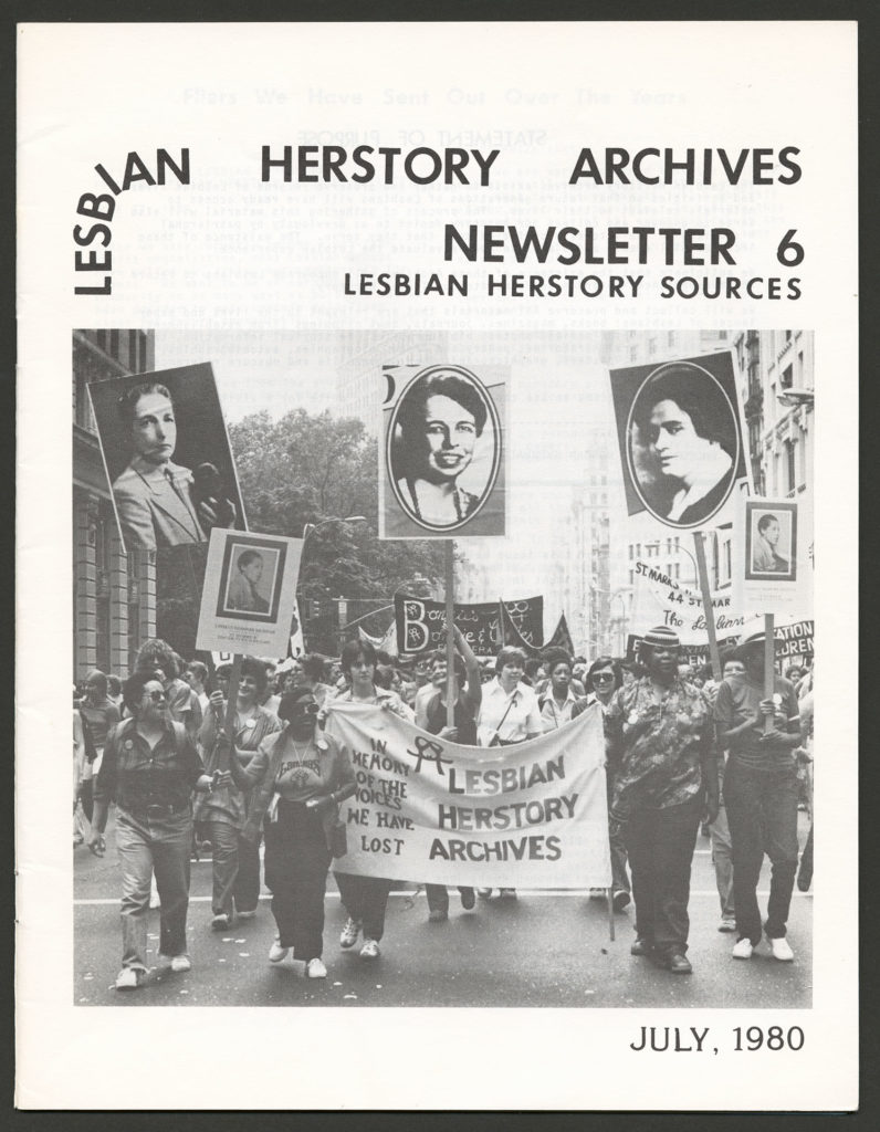 The front of an LHA newsletter dated July 1980. There is a photograph of people at a march holding an LHA banner.