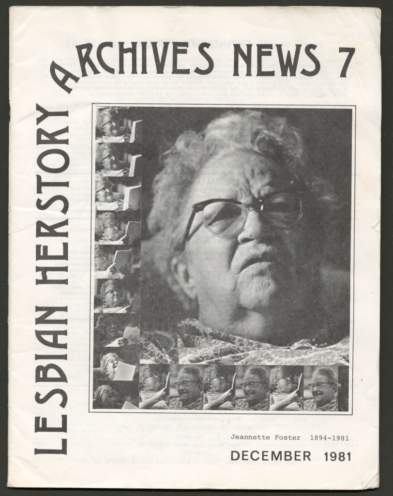 The front of an LHA newsletter dated December 1981. There is a photograph of Jeanette Foster on the cover.