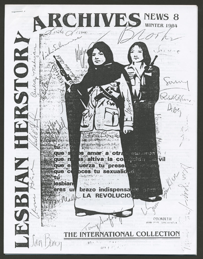 The front of an LHA newsletter dated winter 1984. The subject is The International Collection.