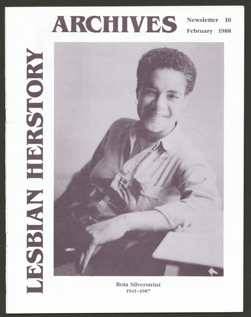 The front of an LHA newsletter dated February 1988. The cover features a photograph of Rota Silverstrini.