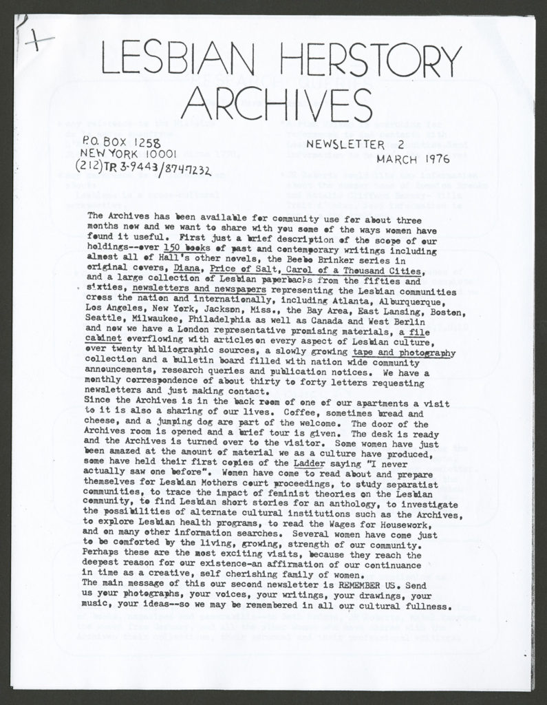 The front of an LHA newsletter dated March 1976. The pages are stapled together in one corner.